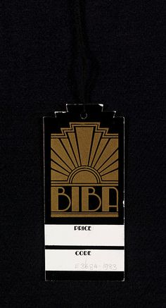 John McConnell designed two versions of the Biba logo. The first was designed for the Biba mail order catalogues around 1966 and drew on Art Nouveau lettering of the 1890s for inspiration, a form of Celtic lettering reinterpreted by the Liberty style of the period. In 1969, the logo was re-designed reflecting inspiration from 1930s