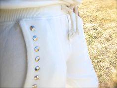 pantalone felpa borchiato