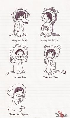 Why is Jinxx an elephant and why is Ashley a zebra.