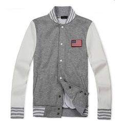 2012 New Style Gray Varsity Men Jackets
