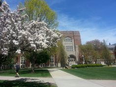 Another beautiful spring day out front of the Purdue Memorial Union (PMU).
