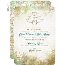 Romantic Regency Fall Wedding Invitations  weddingpaperdivas.com