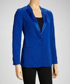 Take a look at this Blue Blazer by Style Guide: Royal Blue on @zulily today!