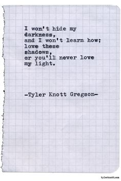 Typewriter Series #1949 by Tyler Knott Gregson Check out my Chasers of the Light Shop! chasersofthelight.com/shop