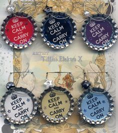 beer bottle top wine glass charms - such a cute gift idea. I can already think of several theme ideas