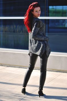 Leather details   Fall outfit   Sidewalk Strut  