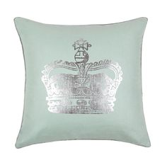 "Blissliving Home ""Victoria Crown"" Decorative Pillow, 18"" x 18"" 