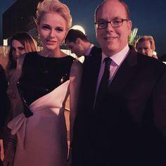 Charlene and Albert of Monaco