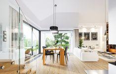 Projekt domu Parterowy- 118.23m2 - koszt budowy 184 tys. zł Deck Design, Planer, Bungalow, House Plans, Table, Furniture, Houses, Home Decor, Templates