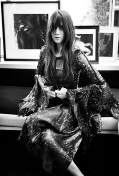 charlotte gainsbourg in oyster in her apartment in paris in the land of endless cool