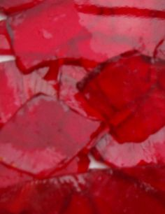 Cranberry Mosaic Glass Cullet