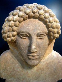 Phoenician  head,limeston e 10th cent,BC Museo de Cadiz,Spain