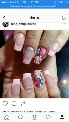 Квітчати Diy Nail Designs, Nail Polish Designs, Perfect Nails, Gorgeous Nails, Cute Nails, Pretty Nails, Nail Salon Design, Purple Nail Art, Flower Nail Art