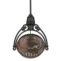 Old Havana Antique Copper Fan with Black Ceiling Mount    Sale Price $584.00