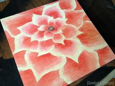 Using raspberry juice to stain wood and make awesome artwork! {Sawdust and Embryos}