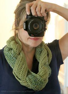 With a Grateful Prayer and a Thankful Heart: Crochet Braided Scarf