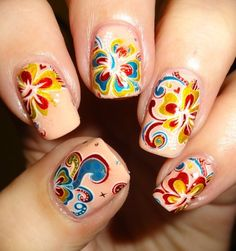 Sparkly Nails - Retro Flower Nail Foil  #nailblogger Download #beautyapp - bellashoot to see more!