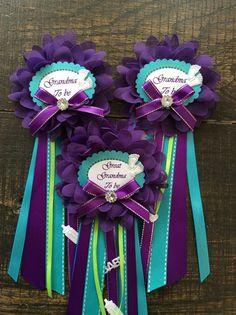1 Small baby shower Grandma pin purple and by Marshmallowfavors