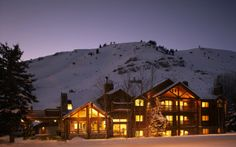 spa, winter, night, house, cottage, mountains, all are found in wyoming, usa