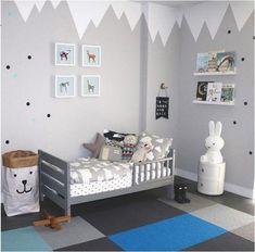 Pintar las paredes del dormitorio de los niños, es la nueva tendencia en decoración infantil. | Decoración