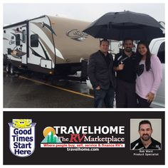 Congratulations to Kyle & Angel on the purchase of their Cougar 28RBS #traveltrailer from Rob! #CougarRV #travel #Travelhome #vacation #camping #rving
