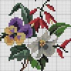 This Pin was discovered by jan Mini Cross Stitch, Cross Stitch Rose, Cross Stitch Flowers, Cross Stitch Charts, Cross Stitch Designs, Cross Stitch Patterns, Christmas Embroidery Patterns, Needlepoint Patterns, Cross Stitching