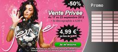 Du 17 au 23 Septembre 2012, profitez du nouvel album de Jenifer en version au prix incroyable de 4.99 € au lieu de 9.99 € !!!