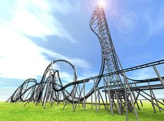 The steepest roller coaster in the world. Debuting in mid-July in Japan's Fuji-Q Highland Amusement Park, the Takabisha rollercoaster features a 130 foot drop at 121 degrees. Including seven major twists over 1000 metres of track, and a nerve-jangling drop of 43 metres.