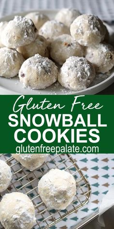 Gluten Free Cookie Recipes, Gluten Free Sweets, Gluten Free Baking, Gluten Free Almond Cookies, Keto Recipes, Dinner Recipes, Meringue, Gluten Free Christmas Cookies, Snowball Cookies