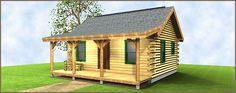 The Trailblazer Log Cabin Floor Plan