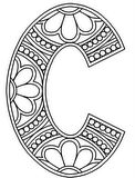 Download, print, color-in, colour-in lowercase c
