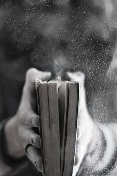 book, dust, black and white, photography
