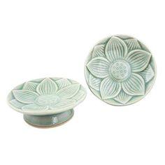 Image result for White thai celadon dinnerware  sc 1 st  Pinterest & Thai Celadon Dinnerware Buy Peony Goldfish Design Bowls Rice Soup ...
