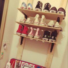 ディアウォール/靴棚DIY…などのインテリア実例 - 2015-07-05 19:56:23