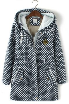 Polka Dots Trench Coat Outerwear