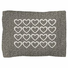 Cute Hearts Wooly Pillow Sham by Technotext - CafePress Fabric Envelope, Grey Pillows, Colorful Pillows, Pillow Shams, Backdrops, Hearts, Cute, Prints, Design