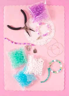 Bracelet making activity...