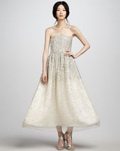 Milly Strapless Sequined Ball Gown by Alice + Olivia at Bergdorf Goodman.