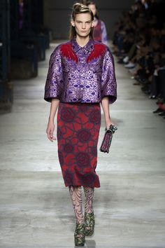 Dries Van Noten Spring 2016 Ready-to-Wear Fashion Show - Maartje Verhoef (Women)
