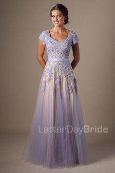 """Rylie"" Dress in Lilac via LatterDayBride"