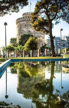 White Tower of Thessaloniki, Macedonia, Greece Macedonia Travel Destinations Places To Travel, Places To See, Travel Destinations, Places Around The World, Around The Worlds, Macedonia Greece, Greece Thessaloniki, Greece Travel, Countries Of The World
