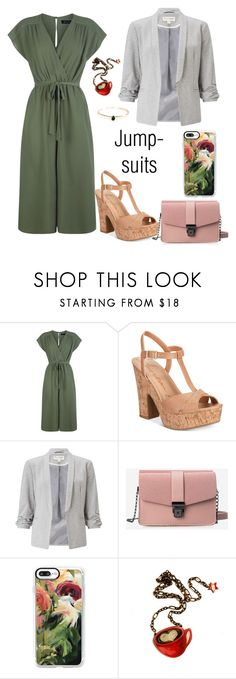"""""""Business Jumpsuit"""" by andreaninablink ❤ liked on Polyvore featuring American Rag Cie, Miss Selfridge, Casetify and jumpsuits"""