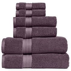 Plum Splendor Bath Towel Set and Bath mat from JC Penney