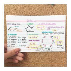 MATEMÁTICA - POLÍGONOS🦄 #resumosonhodamedicina #resumos #matematica #yooying Study Notes, Biology, Notebook, Bullet Journal, Math, Vestibular, Instagram, Study Motivation, Cards