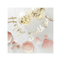 Artikelbild zuordnen - CreaDIVA.ch Ballon- und Geschenkshop Happy Birthday Girlande, Party In A Box, Kit, Decoration, Place Cards, Place Card Holders, Teller, Products, Pink