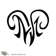 K And M Tattoo heart. Union. Khushbu requested this tribal heart tattoo where ...