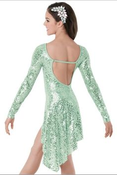 Mint green dance costume