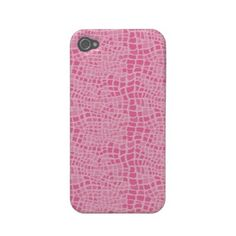Pink Snakeskin Pattern Iphone 4/4S Case
