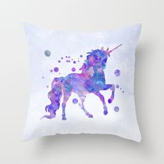 Unicorn Pillow Case Unicorn Cushion Unicorn by MiaoMiaoDesign