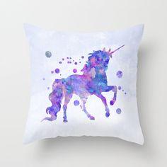 Unicorn Pillow Case Unicorn Cushion Unicorn by MiaoMiaoDesign